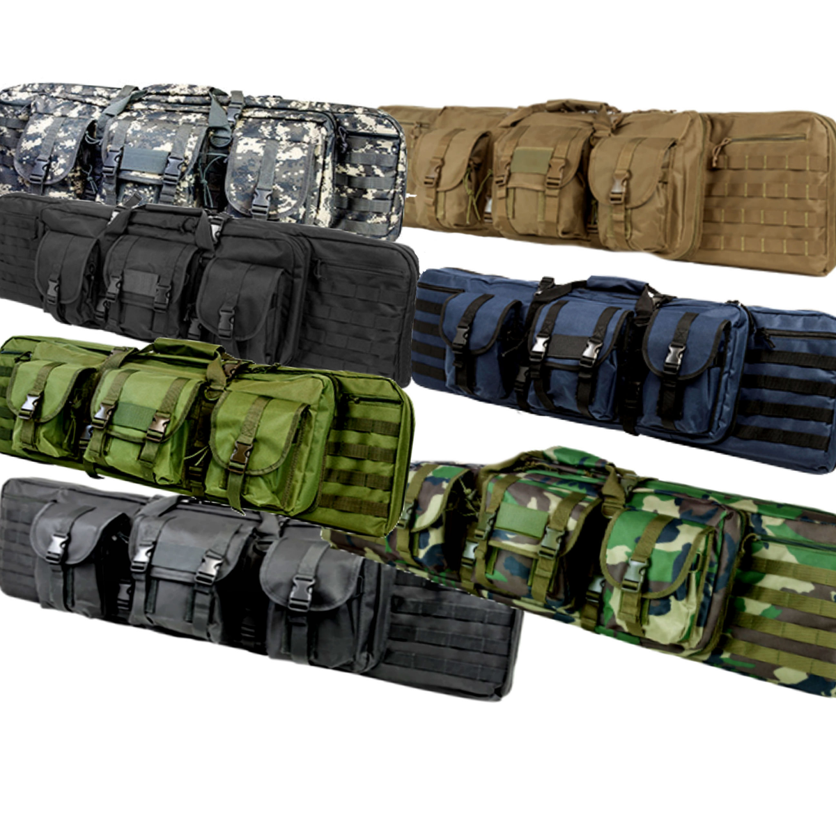 Double Carbine Gun Case MultiColor