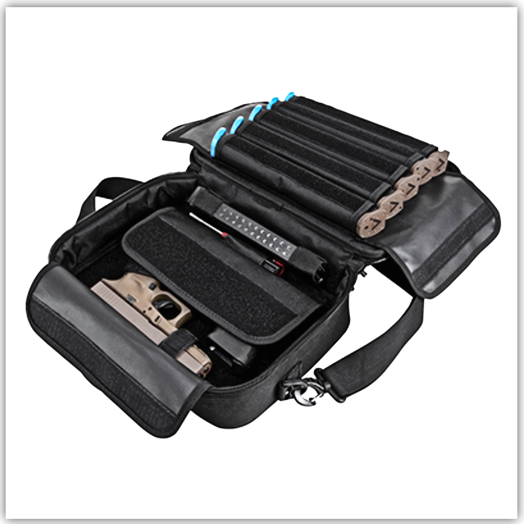 Double Pistol Bag black inside Full